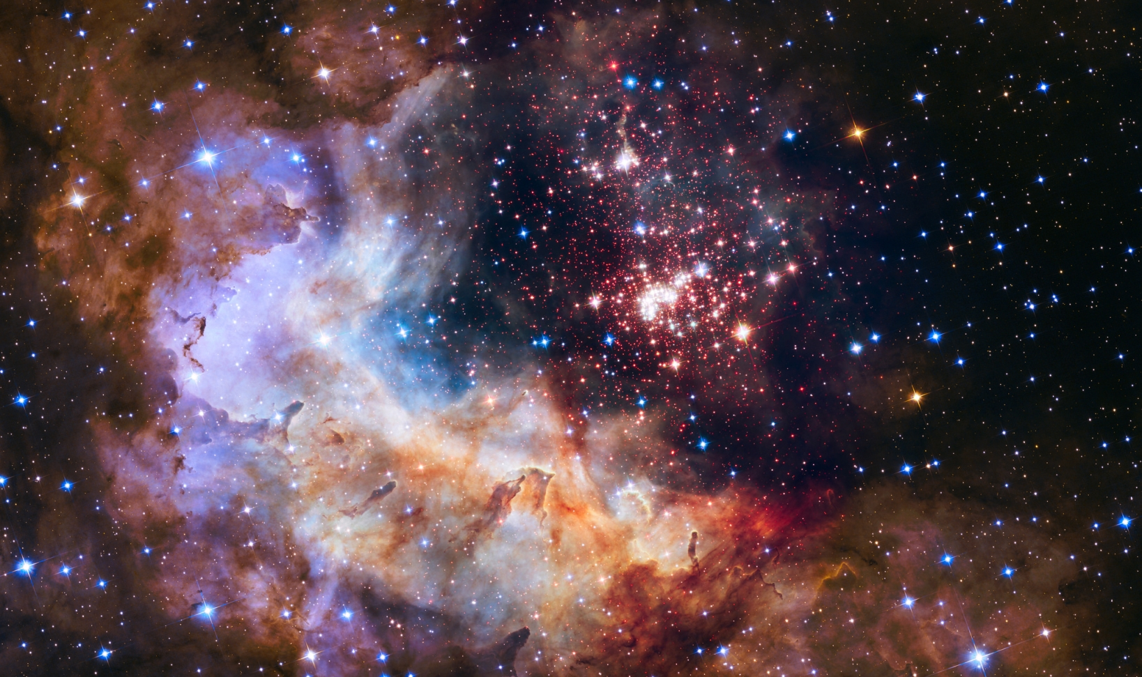 Open Star Cluster Westerlund 2 & Starforming Region Gum 29 via Hubble Heritage on Flickr https://www.flickr.com/photos/hubble-heritage/16635704113/