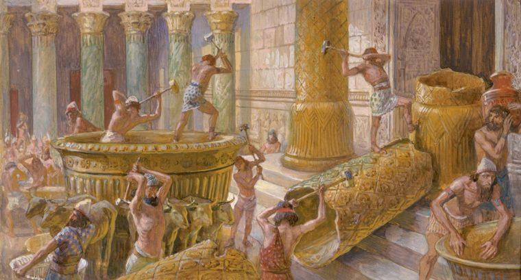 The Chaldees Destroy the Brazen Sea  c. 1896-1902 by James Tissot